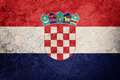 Grunge Croatia flag. Croatian flag with grunge texture. Royalty Free Stock Photo