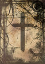 Grunge cross Stock Photography