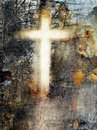 Grunge cross background Stock Photos