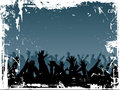 Grunge crowd Royalty Free Stock Images