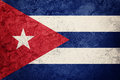 Grunge Cuba flag. Cuban flag with grunge texture. Royalty Free Stock Photo