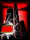 Grunge dark banner Royalty Free Stock Photo