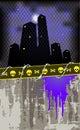 Grunge dark city Royalty Free Stock Photo
