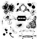 Grunge design elements Royalty Free Stock Photo