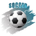 Grunge design with soccer ball Royalty Free Stock Photo