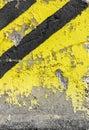 Grunge diagonal warning stripe Royalty Free Stock Photo