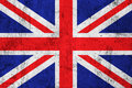 Grunge Dirty British Flag Stock Photography