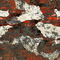 Grunge dirty plastered bricks wall Stock Image