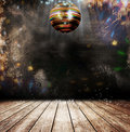 Grunge disco ball Stock Images