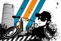Grunge DJ City Royalty Free Stock Photo