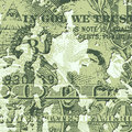 Grunge dollar bill a banknote background Royalty Free Stock Images