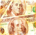Grunge dollars background Royalty Free Stock Images