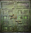 Grunge door to old prison cell cachot Royalty Free Stock Photo