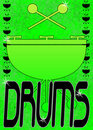 Grunge drums poster or frame Royalty Free Stock Images