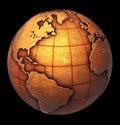 Grunge Earth globe Royalty Free Stock Photo