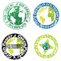 Grunge eco friendly seal set Royalty Free Stock Photo