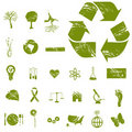 Grunge Eco Icons Stock Photos