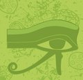 Grunge egyptian eye of horus ancient deity religious symbol vector illustration Stock Photo