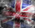 Grunge england flag with white scratches Stock Photography