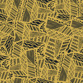 Grunge ethnic background. Brown seamless vector pattern. Ethnic vector illustration handmade. Tribal motives. Royalty Free Stock Photo