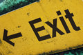 Grunge Exit Sign Royalty Free Stock Photos