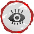 Grunge eye sign Royalty Free Stock Image