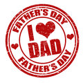 Grunge fathers day rubber stamp on white vector illustration Royalty Free Stock Photo