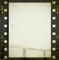 Grunge film strip background old Stock Images