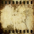 Grunge film strip background old and texture Royalty Free Stock Images