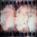 Grunge film strip background old and texture Stock Photos
