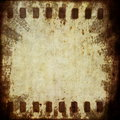 Grunge film strip background old and texture Stock Photography