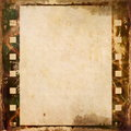 Grunge film strip frame background old Stock Images