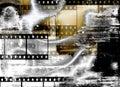 Grunge Film Strips Background