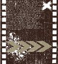 Grunge filmstrip vector background Stock Images