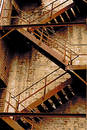 Grunge fire stair Royalty Free Stock Photography