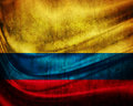Grunge flag  Colombia Stock Photography