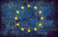 Grunge flag of European union Royalty Free Stock Image