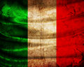 Grunge flag Italy Stock Photos