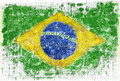 Grunge flag painted of brazil Royalty Free Stock Photo