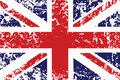 Grunge flag of United Kingdom Stock Photos