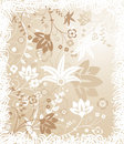 Grunge floral background, elements for design, vector Royalty Free Stock Photo