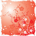 Grunge floral background, vector Royalty Free Stock Photos