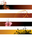 Grunge floral banners Royalty Free Stock Photo