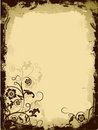 Grunge floral border, vector Royalty Free Stock Photo