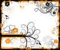 Grunge floral frame, vector Royalty Free Stock Photography