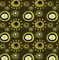 Grunge floral pattern Royalty Free Stock Photo