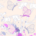 Grunge floral seamless pattern Royalty Free Stock Photo