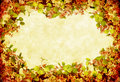 Grunge Floral Wreath Royalty Free Stock Photo