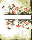 Grunge flower background Royalty Free Stock Photography