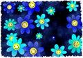 Grunge flowers Royalty Free Stock Photo
